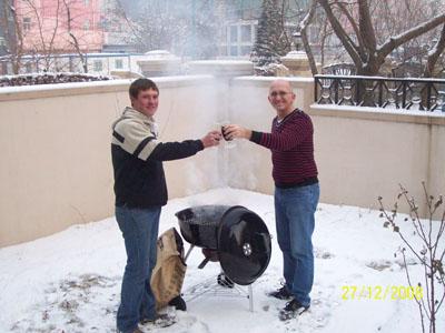 Braai in die sneeu